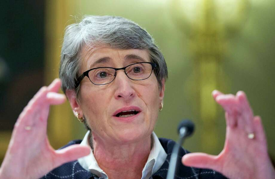 "FILE - In this Dec. 9, 2015 file photo, Interior Sally Jewell testifies on Capitol Hill in Washington.  In a major reversal, the Obama administration says it will not allow oil drilling in the Atlantic Ocean. Interior Secretary Sally Jewell made the announcement Tuesday on Twitter, declaring that the administration's next five-year offshore drilling plan ""protects the Atlantic for future generations.""  (AP Photo/Manuel Balce Ceneta) Photo: Manuel Balce Ceneta, STF / AP"