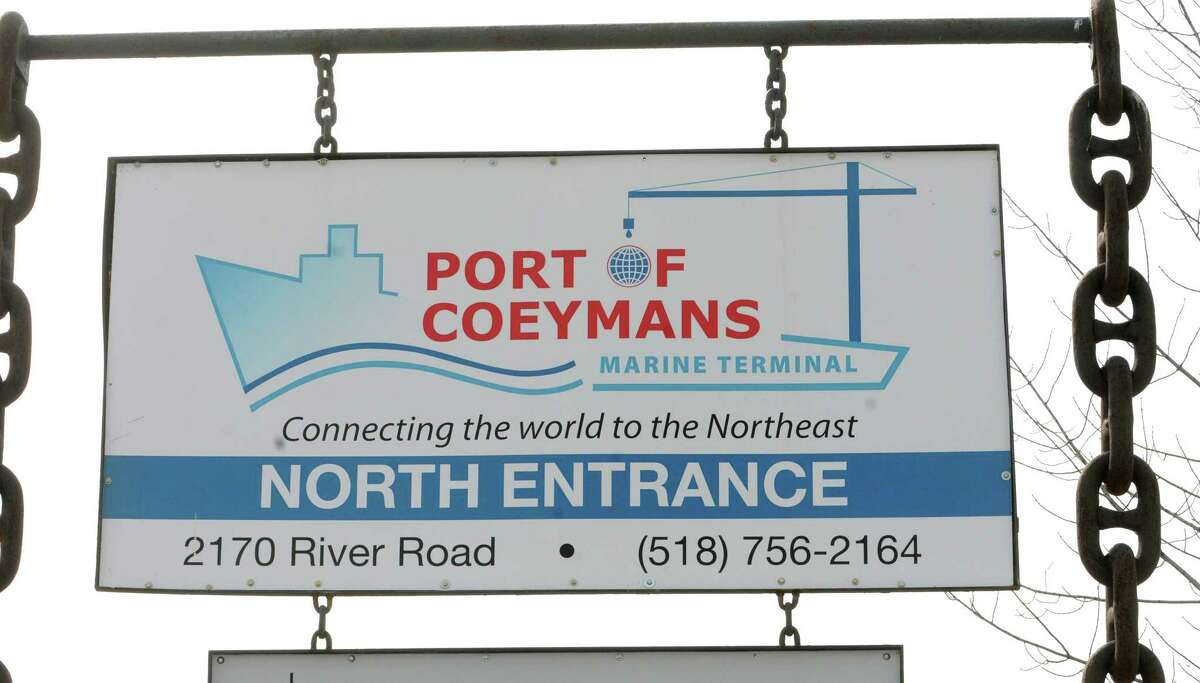 Sign at the Port of Coeymans on Tuesday, March 15, 2016 in Coeymans, N.Y. (Lori Van Buren / Times Union)