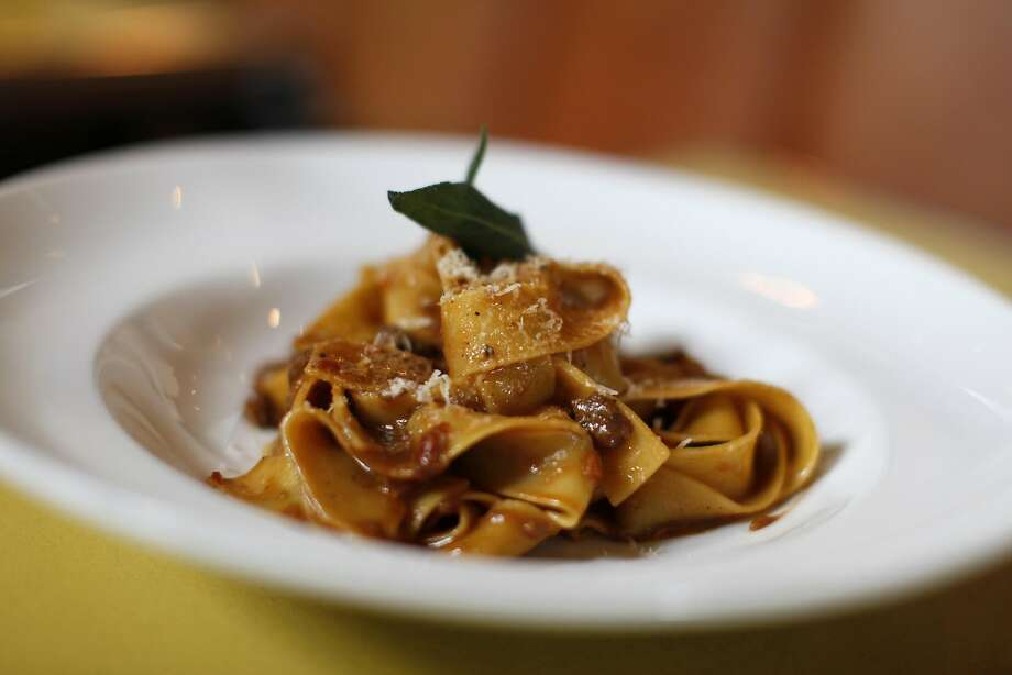 Mmmm pappardelle pasta with a wild boar Bolognese sauce