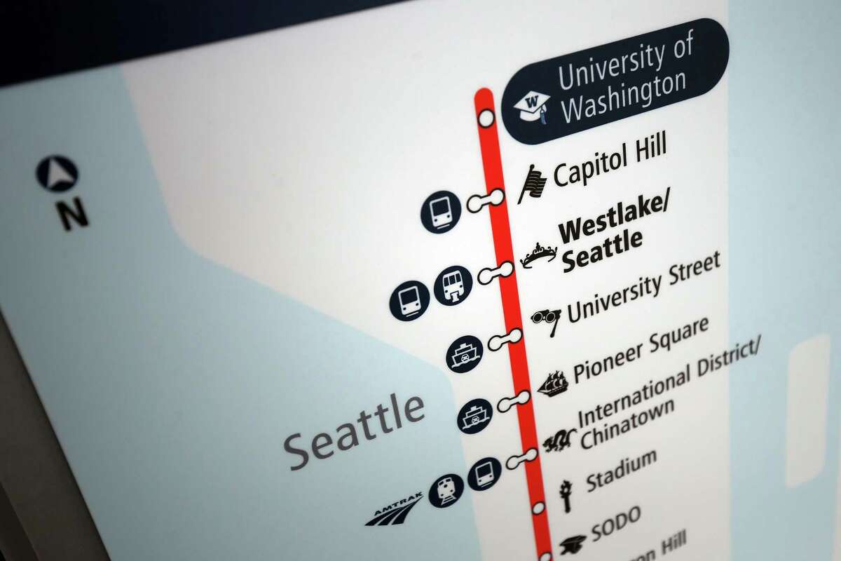 The new University of Washington and Capitol Hill light rail stations will open to the public on Saturday at 10 a.m. Photographed Tuesday, March 15, 2016.