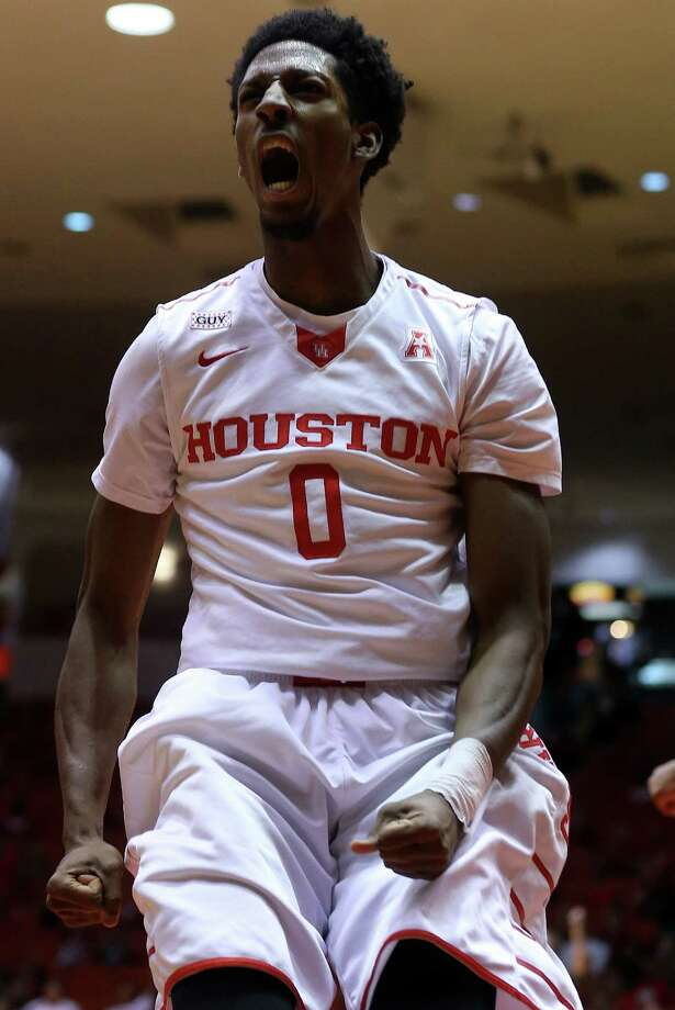 "Coach Kelvin Sampson refers to forward Danrad ""Chicken"" Knowles as the X factor for UH. Photo: Elizabeth Conley, Staff / © 2016 Houston Chronicle"