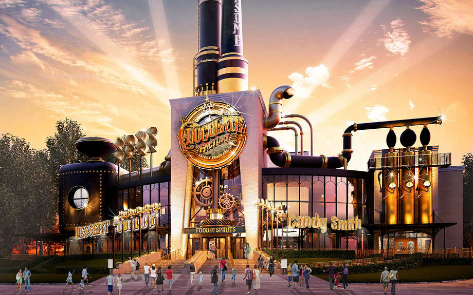 An artist rendering of the planned exterior for the Toothsome Chocolate Factory & Savory Feast Emporium at Universal CityWalk in Florida. Photo: Courtesy Universal Studios