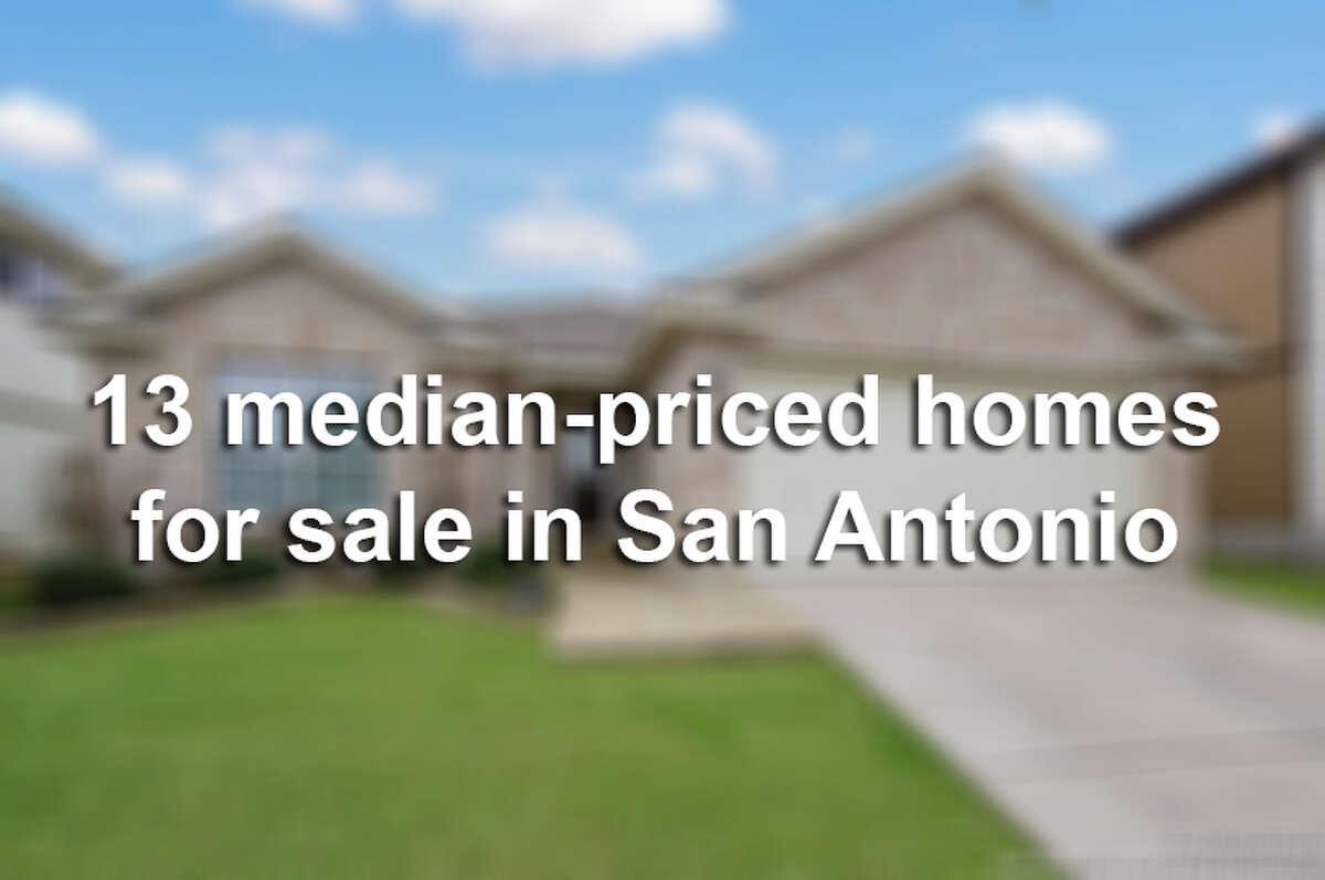 Real estate near the city's median price shows that there are plenty of classy old-time charmers, upscale condos and flipped homes packed with awesome features.Keep clicking to view 13 median-priced homes for sale in San Antonio.