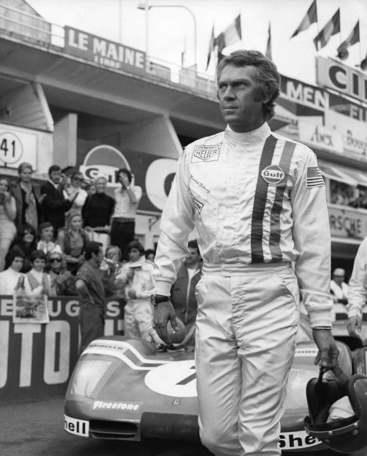 Le Mans, France - 1971: Actor Steve McQueen wears his Tag Heuer Monaco watch in a scene from the movie 'Le Mans in 1971 in Le Mans, France. (Photo by Michael Ochs Archives/Getty Images)