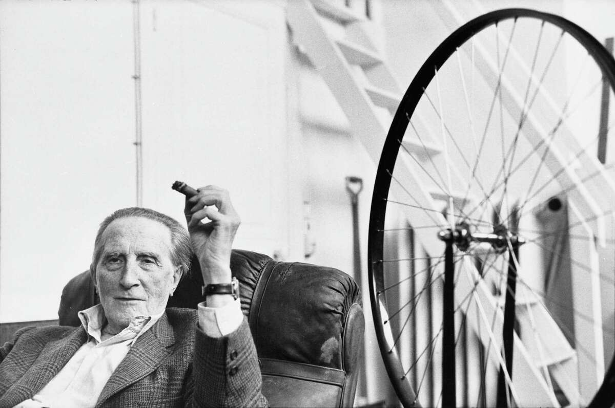 """Henri Cartier-Bresson's """"Marcel Duchamp"""" is among works on view in """"Life Is Once, Forever: Henri Cartier-Bresson Photographs"""" at the Menil Collection."""
