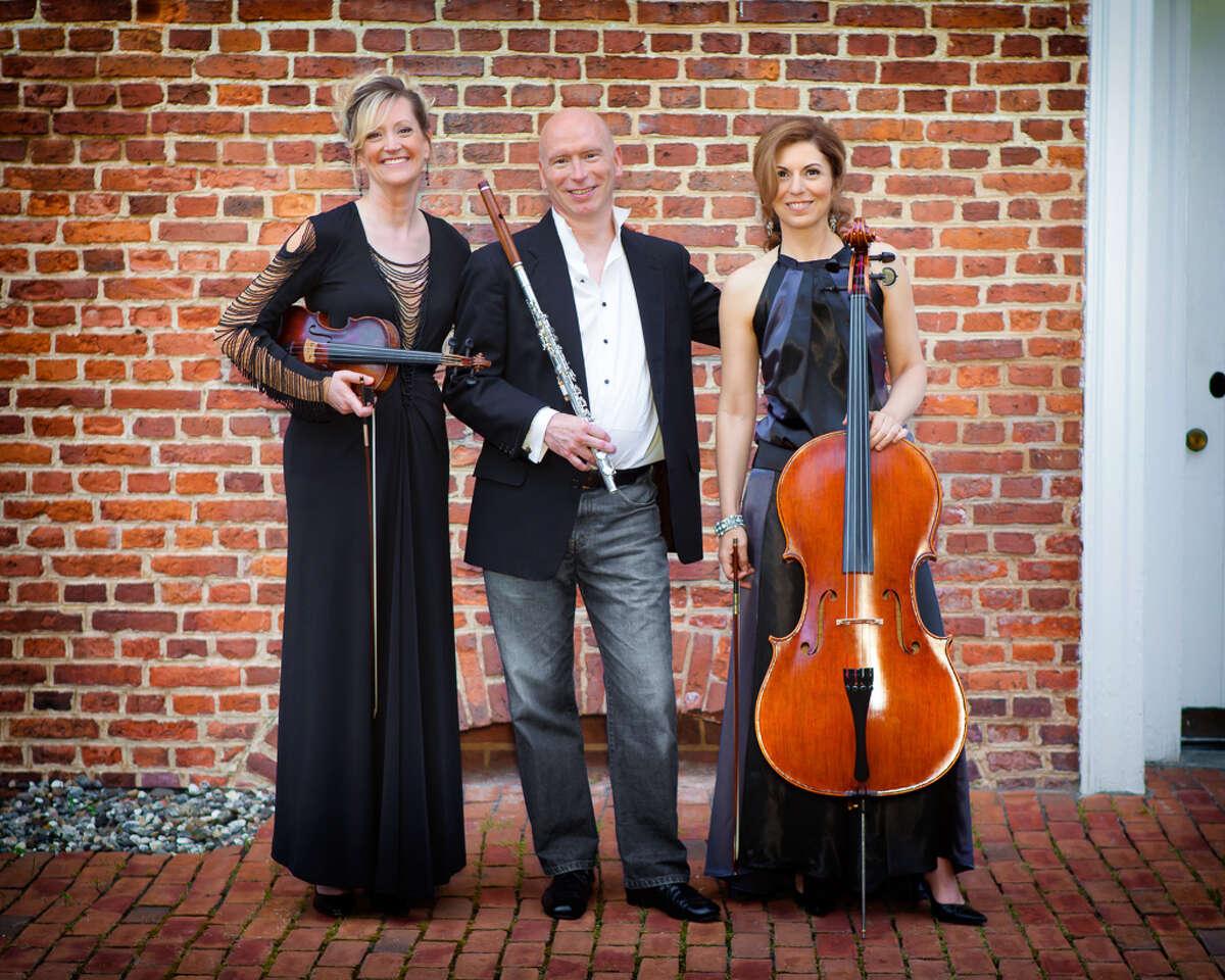 Musican's of Ma'alwyck. From left, Ann-Marie Barker Schwartz,violin; Norman Thibodeau, flute and Petia Kassarova, violoncello