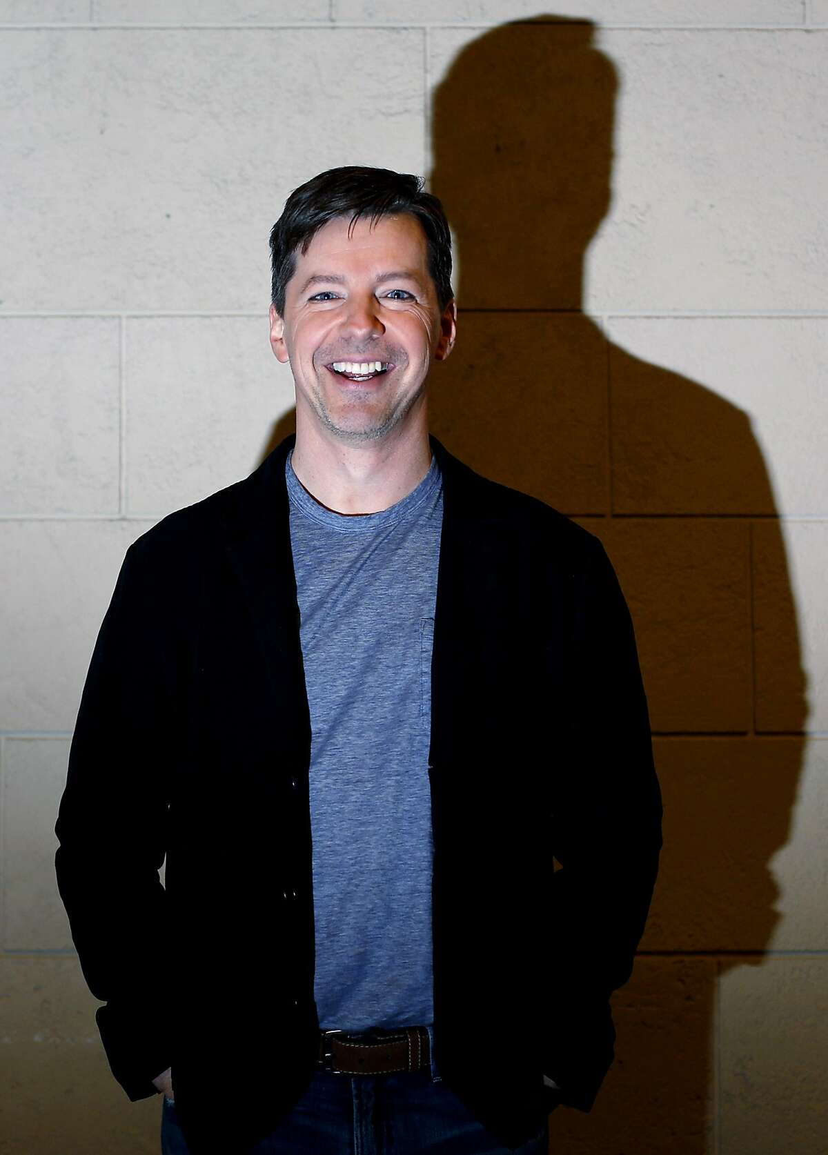 """Sean Hayes, who is playing God in """"An Act of God"""" at the Golden Gate Theater, poses at the Orpheum Theatre in San Francisco, California, on Tuesday, Jan. 12, 2016."""