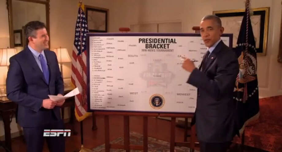 PHOTOS: Houston Cougars practice before NCAA Tournament President Barack Obama makes his annual picks for the NCAA Tournament on ESPN. >>>See the Cougars during Thursday's media session, a day before facing Georgia State in the NCAA Tournament in Tulsa, Okla. ... Photo: ESPN