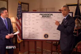 President Barack Obama makes his annual picks for the NCAA Tournament on ESPN.