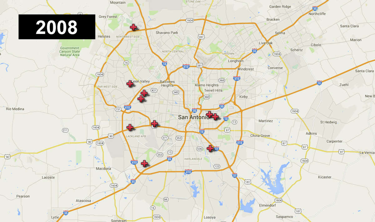 In 2008 , 10 San Antonio youth ages 0-17 were killed.