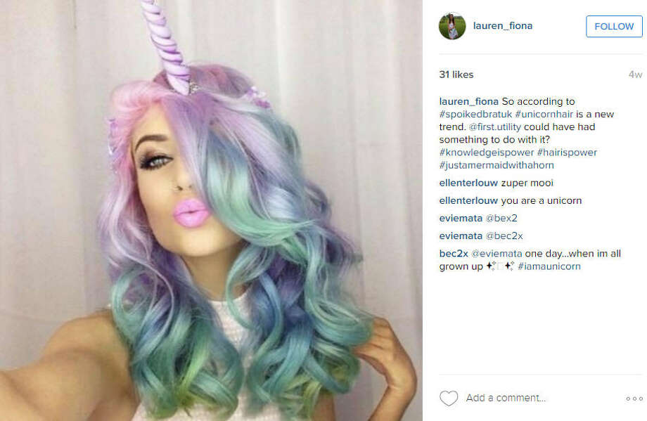Unicorn hair is the latest beauty trend on social media.Source: Instagram Photo: Instagram