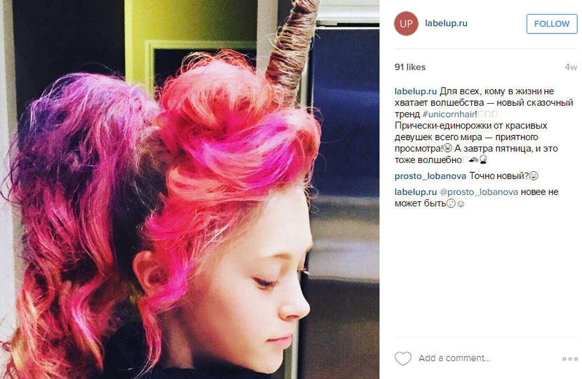 #Unicornhair Source:Instagram