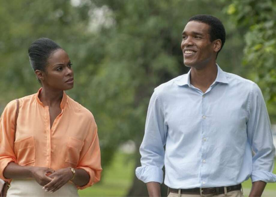 """2016: Obama's America"" notwithstanding, President No. 44 is getting some major Hollywood love. ""Southside with You"" (starring Tika Sumpter as Michelle Robinson and Parker Sawyers as Barack Obama), depicting the eventual First Couple's first date, has gained distribution, and ""Barry"" is in production. Photo courtesy Roadside Attractions/Miramax. Photo: Roadside Attractions/Miramax."