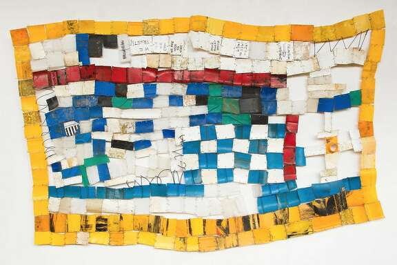 "Serge Attukwei Clottey, ""American Lottery"" (2015) at Ever Gold Projects"