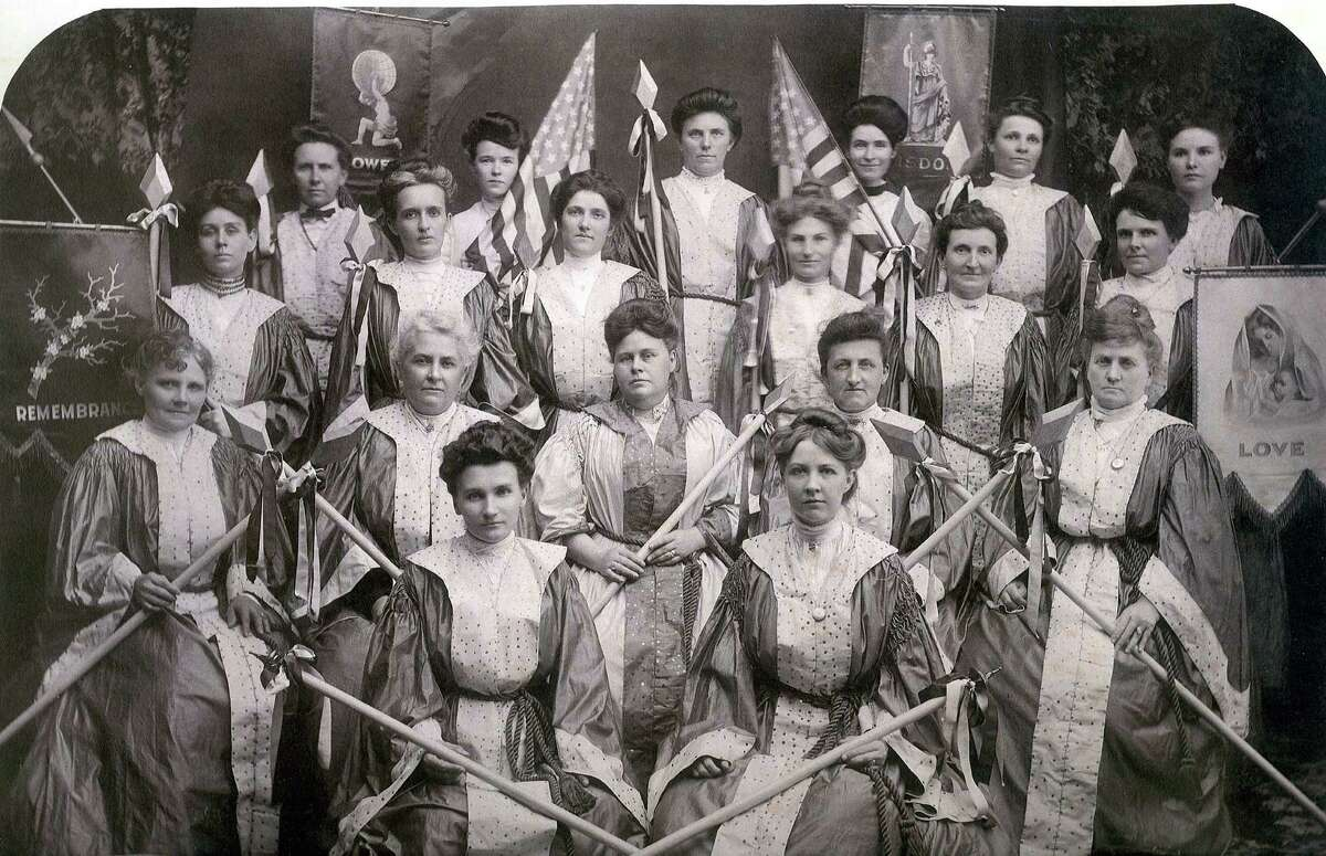 From the early 1900s: A ladies' auxiliary of the Woodmen of the World.