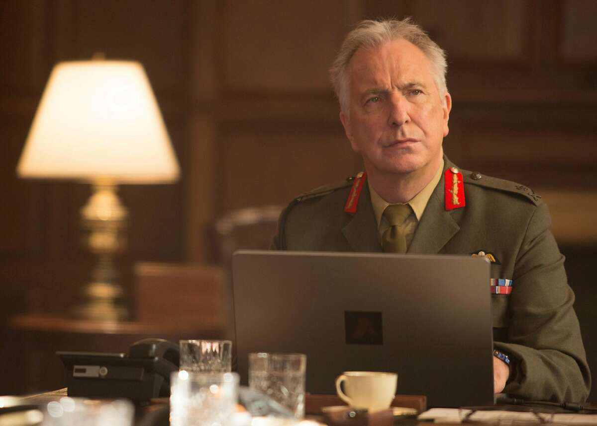 Last looks - As a general weighing the possible consequences of a drone strike in Kenya, Alan Rickman gives one of his final performances.