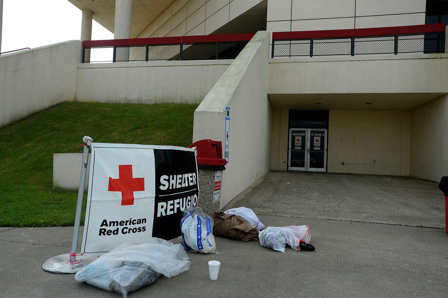 Lamar University's Montagne Center arena has been opened as an American Red Cross shelter for flood evacuees.  Photo taken Wednesday 3/16/16 Ryan Pelham/The Enterprise Photo: Ryan Pelham / ©2016 The Beaumont Enterprise/Ryan Pelham