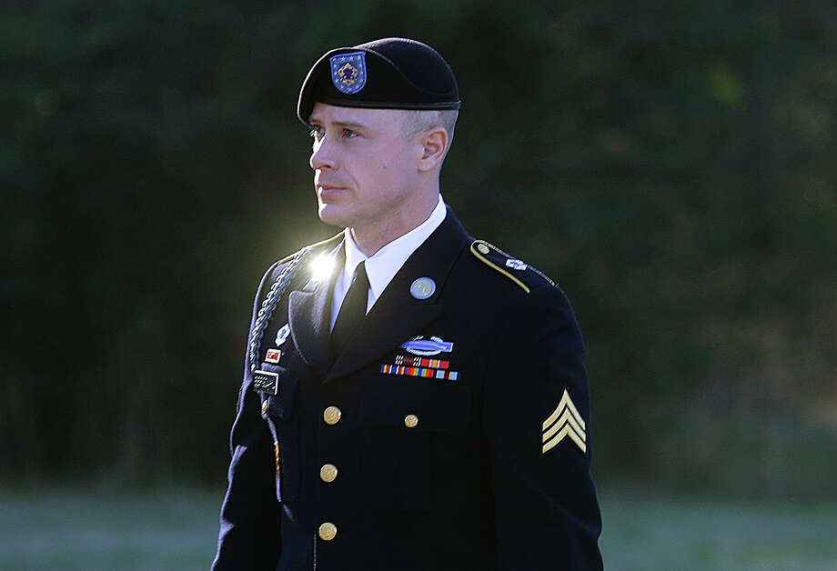 FILE - In this Tuesday, Jan. 12, 2016, file photo, Army Sgt. Bowe Bergdahl arrives for a pretrial hearing at Fort Bragg, N.C. Donald Trump is the most vocal critic to pressure the military to punish Bergdahl, though several experts say it's unlikely his comments alone can convince a judge the soldier's due process rights were violated. (AP Photo/Ted Richardson, File) Photo: Ted Richardson / Associated Press / FR83921 AP
