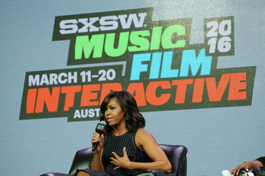 "Michelle Obama said she doesn't ""plan on slowing down anytime soon"" during her keynote talk Wednesday at SXSW in Austin. Photo: Neilson Barnard, Staff / 2016 Getty Images"