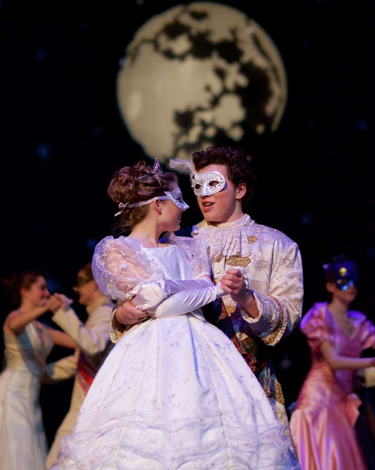 """New Milford High School will present its all-school musical of 2016, """"Rodgers & Hammerstein's Cinderella,"""" beginning March 18, 2016. Above, Cinderella, played by Cassie Bielmeier, dances with the prince, played by Tony Harkin. Following opening night, the play will be staged March 19 and April 1 at 7 p.m., as well as March 20 at 3 p.m. and April 2 at 2 and 7 p.m. Tickets are $10 and may be reserved by calling 860-350-6647, ext. 1552."""