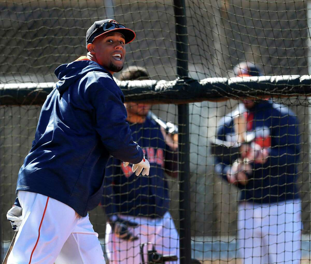 Astros center fielder Carlos Gomez isn't about to let his fun stop at the batting cage.