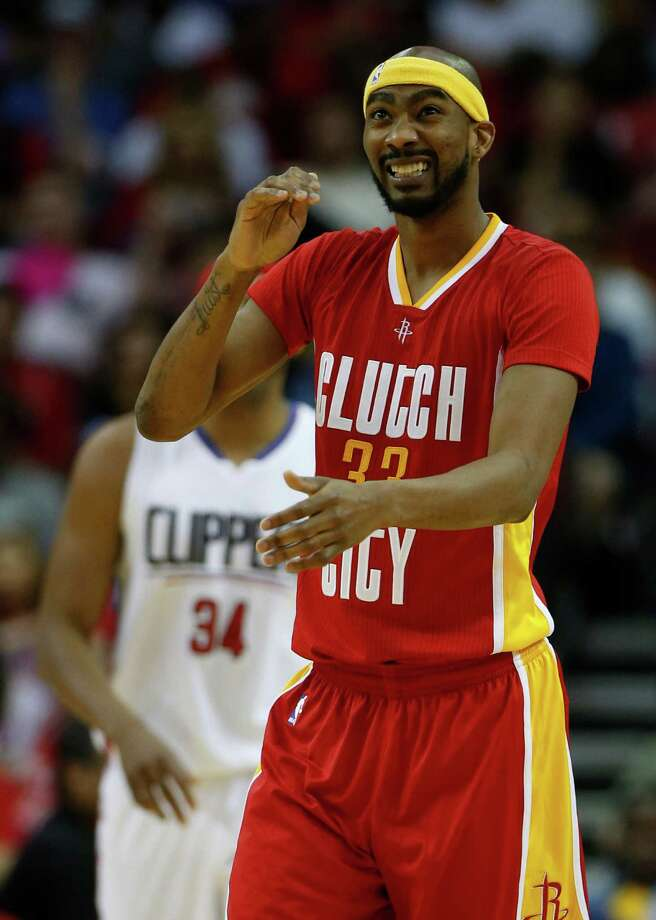 Houston Rockets guard Corey Brewer (33) reacts after missing a three-pointer during the second half of an NBA basketball game at Toyota Center, Wednesday, March 16, 2016. Rockets lost 122-106. Photo: Karen Warren, Houston Chronicle / © 2016  Houston Chronicle