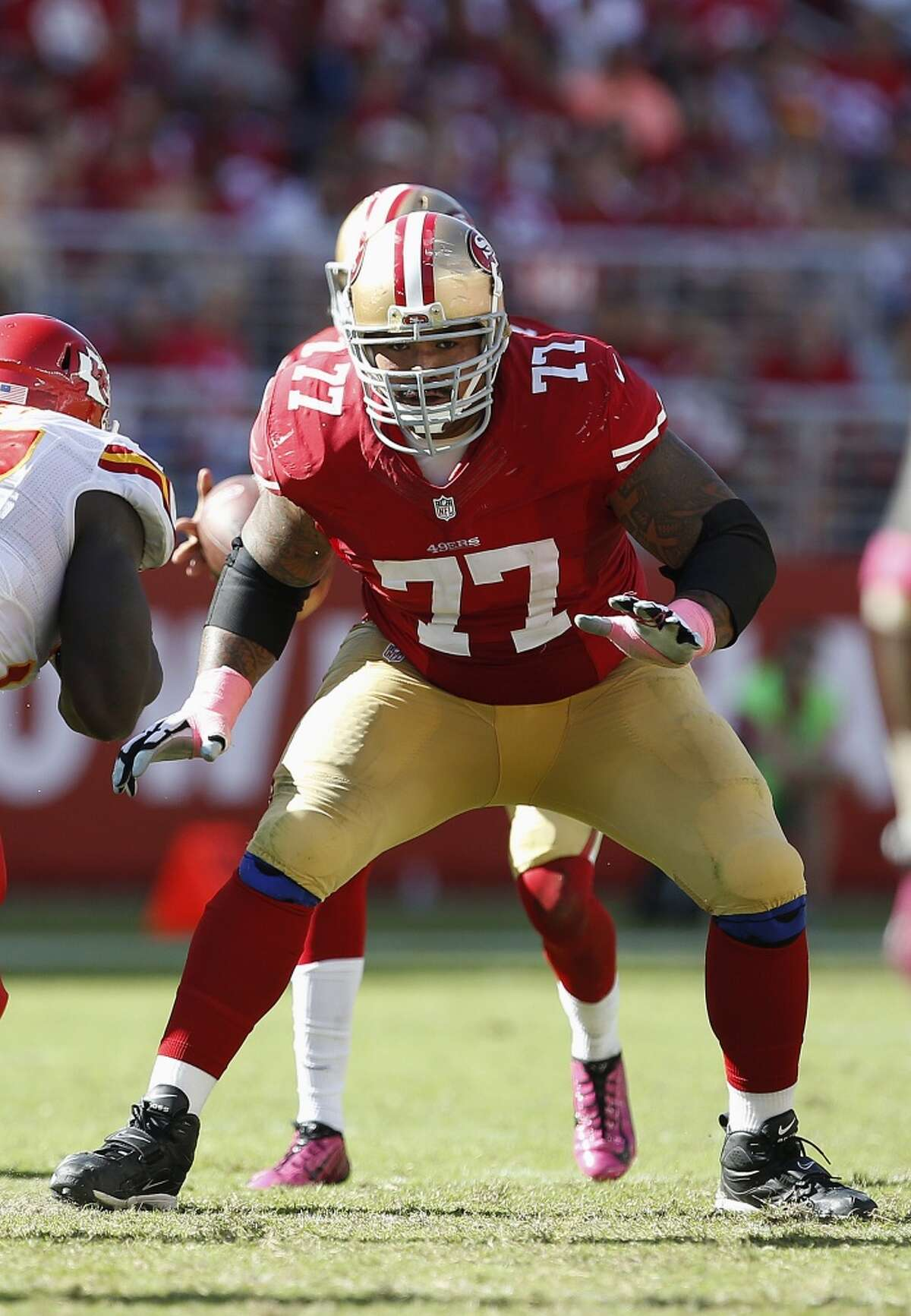 G Mike Iupati - San Francisco to Arizona: Iupati sustained a scary neck injury but only missed a game. He played his regular power game with no discernible dip in production after signing a deal with $22.5 million guaranteed.