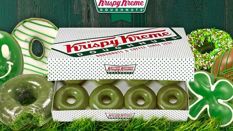 Green doughnut are coming to Krispy Kreme for St. Patrick's Day this Saturday.See the best doughnut shops in Houston, according to Yelp. Photo: Krispy Kreme | Twitter