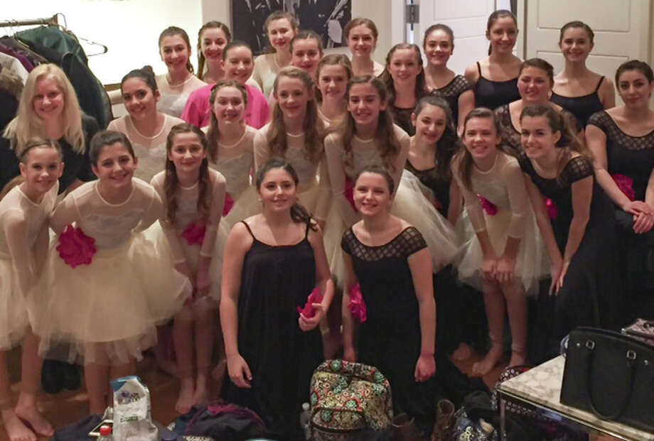Members of the D-Tour dance company of Studio D in New Milford recently performed at the 10th Annual Performing Arts Educators (PAE) Invitational. Among the performers were, from left to right, in front, Alexa Esposito and Emily Smeriglio; second row, Samantha Hawley, Giovanna Esposito, Cassandra Giancaspro, Ayden O'Neill, Lindsey Federowicz, Katie Lukens, Alessandra Prontelli, Sydney Santos, Carolyn Gevinski and Maxine Parsons; third row, Artistic Director Rebecca Anderson Darling, Madigan Sotelo, Samantha McGuire, Katie Hawley, Elizabeth Hawley and Maria Pellegrino; and in back, Sarah Rondini, Rachael Tomanelli, Meg Ginn, Shayne Nyce, Juliana Zaharevich, Micayla Flynn, Morgan Melendez and Gabriela Esposito. Photo: Courtesy Of Jenny Lukens / The News-Times Contributed