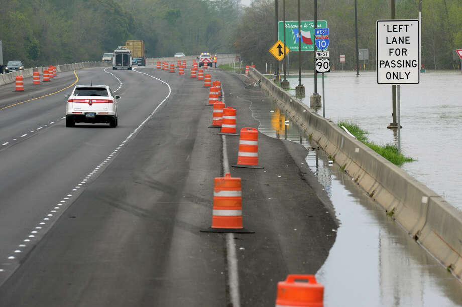 TxDot has suspended travel on Interstate 10 near the Louisiana border due to water rising up to the highway. DPS officials say they expect up to five inches of water on the road. Photo taken Tuesday, March 15, 2016 Guiseppe Barranco/The Enterprise Photo: Guiseppe Barranco, Photo Editor