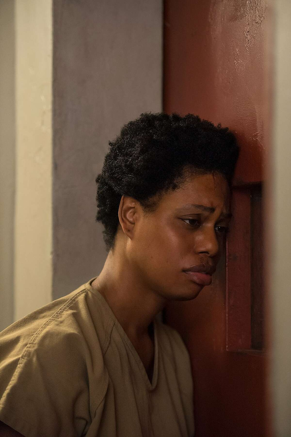 Laverne Cox in a still from Orange Is The New Black season 4.