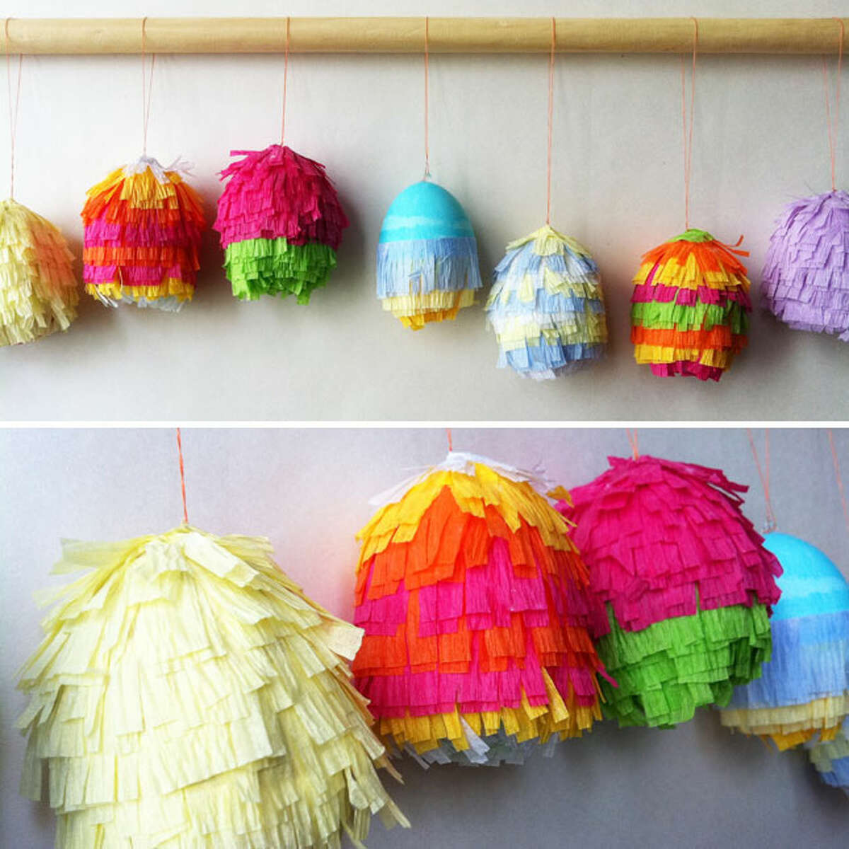 It's like an Easter fiesta! Decorating Easter eggs has been taken to the next level. Just look at these eggs from Corner Blog.