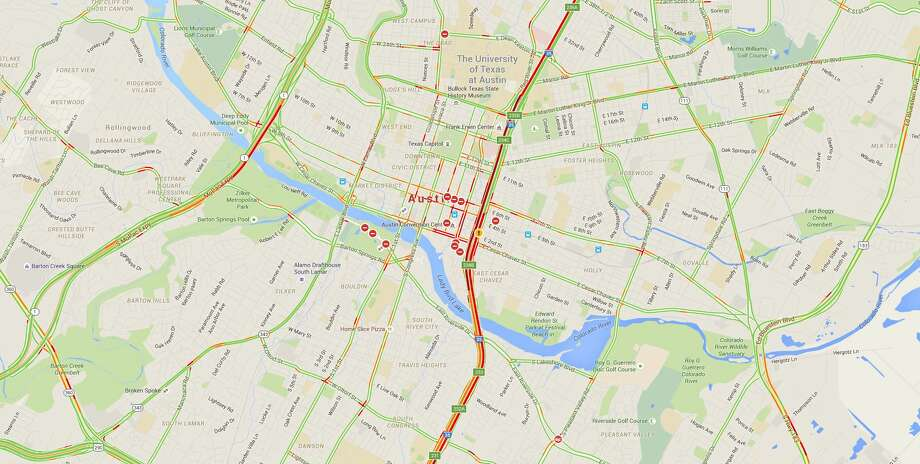 Map South by Southwest Festival makes Austin traffic even worse Houston Ch