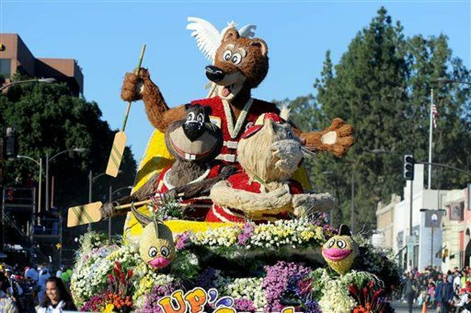 "The La Cañada Flintridge Tournament of Roses Association float ""Up A Creek"" wins the Bob Hope Humor Award in the 127th Rose Parade in Pasadena, Calif., Friday, Jan. 1, 2016.(AP Photo/Michael Owen Baker) Photo: Michael Owen Baker"
