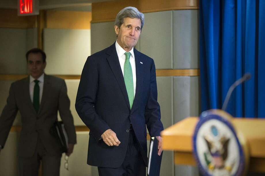 Secretary of State John Kerry says war crimes are being committed against Yazidis, Christians and Shiite Muslims in areas under Islamic State control. Photo: J. Scott Applewhite, AP