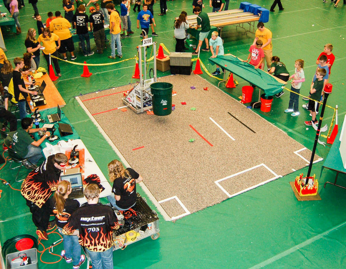 Dow and Bullock Creek high schools host a friendly competition between robots during a STEM Festival. Midland Public Schools will receive $3 million in grants to support its STEM (science, technology, engineering and math) strategic plan over the next three years.