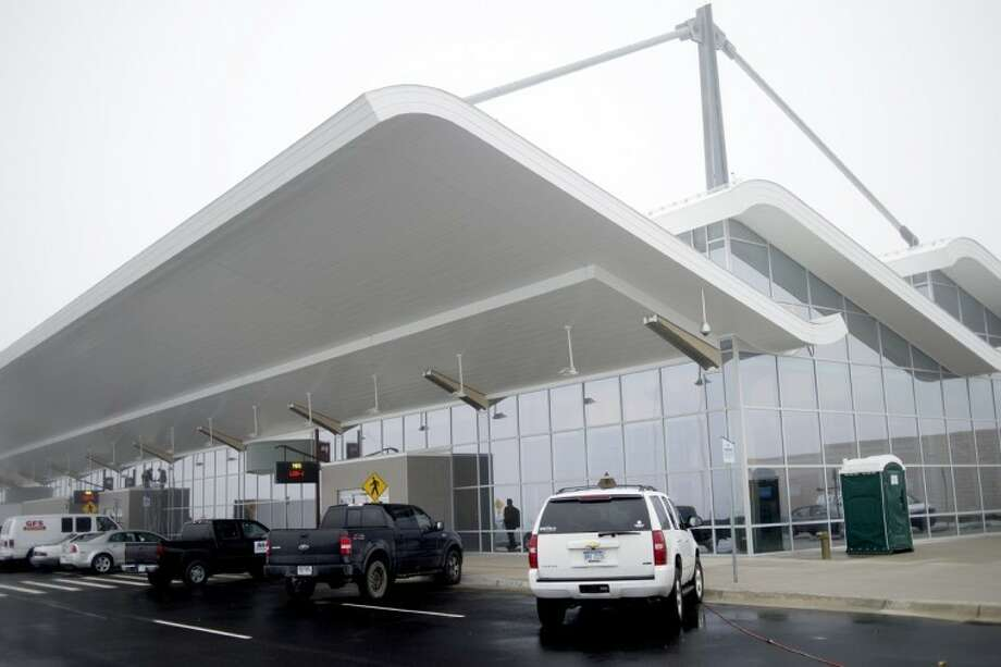 The outside of the terminal at MBS International Airport is shown. Photo: Nick King | Daily News File Photo