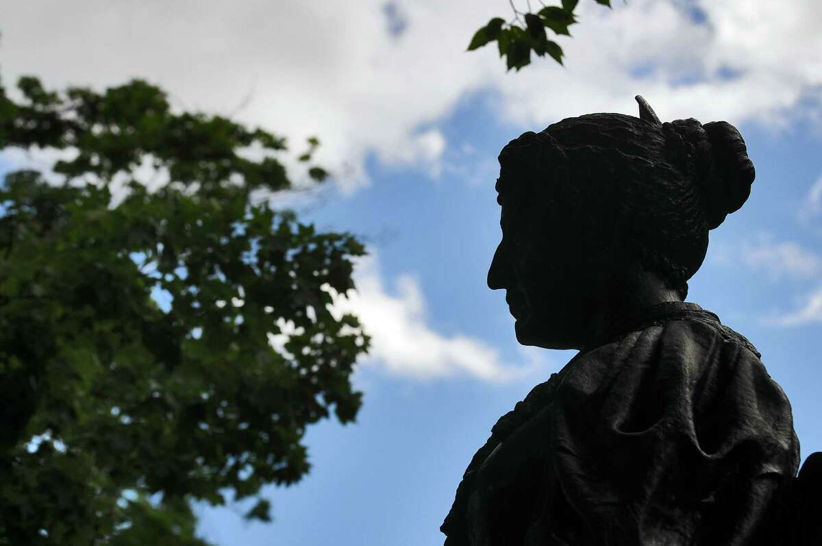 View of the Emma Hart Willard statue on the Russell Sage College campus in Troy, NY. ( Philip Kamrass / Times Union)