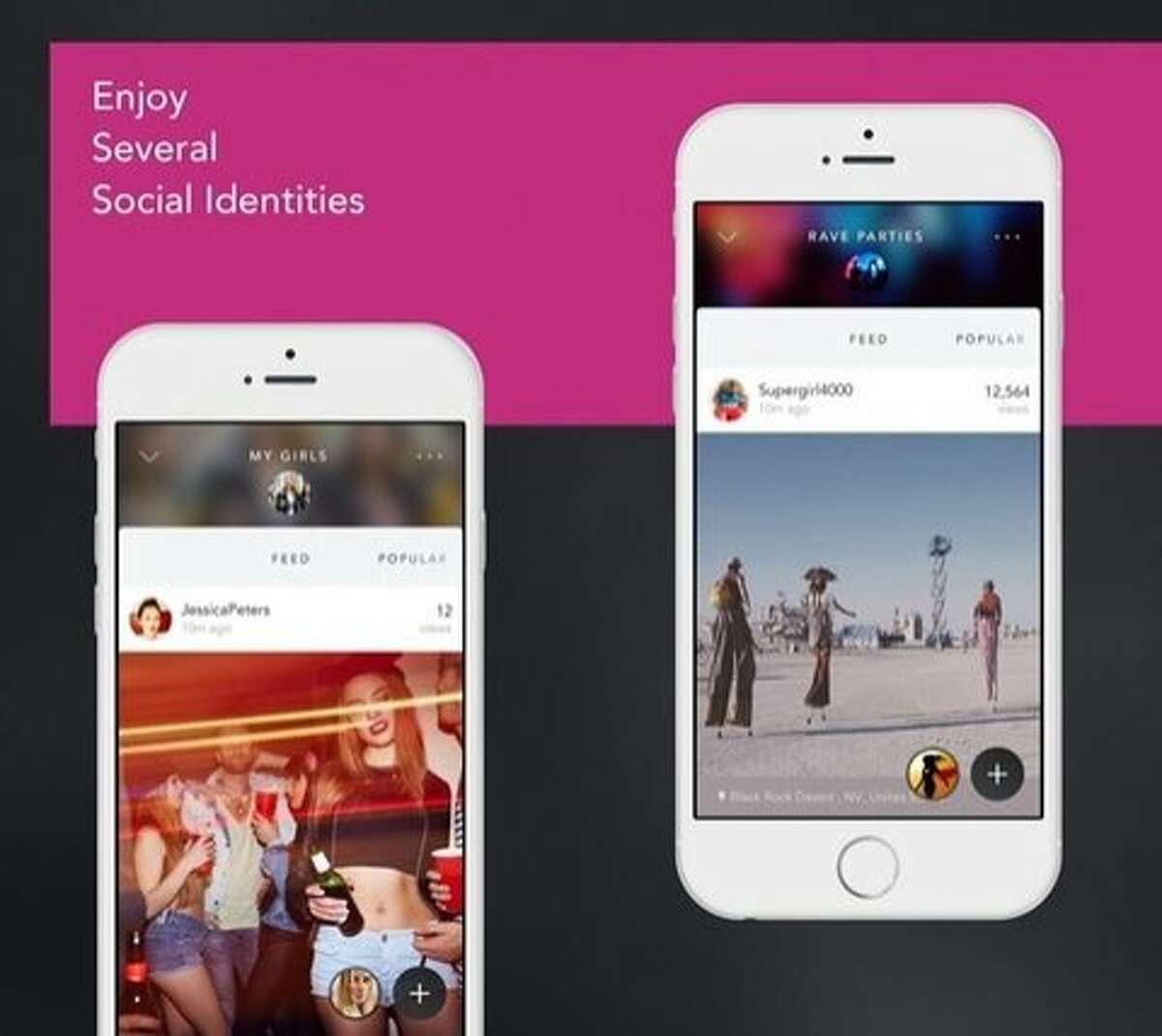 Screen shot of the Galaxia social network.