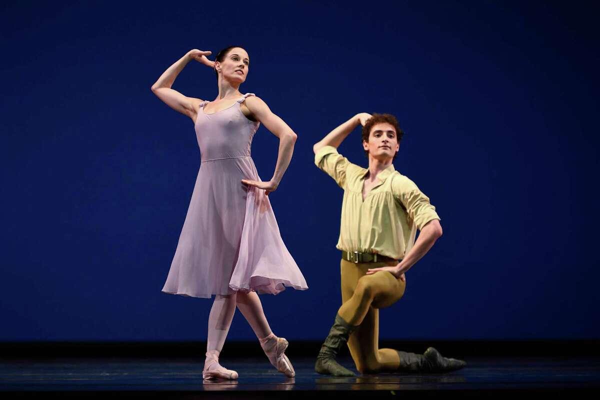 "Vanessa Zahorian and Carlo DiLanno in in Jerome Robbins' ""Dances at a Gathering."""