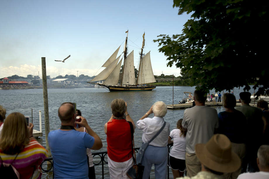 A tall ship sails into Bay City in this Daily News file photo. Bay City's Tall Ship Celebration will return to the region this year from July 14 to July 17. Festival organizers will host an informational/registration session for interested volunteers from 3:30-6:30 p.m. Wednesday at the Wirt Library on Center Avenue in Bay City.