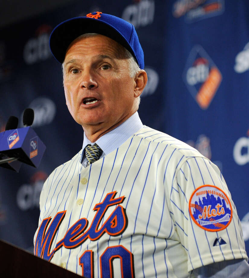 FILE — Terry Collins answers reporter's questions during a news conference after being introduced as the new manager of the New York Mets, at Citi Field in New York in this Nov. 23, 2010 AP file photo. Collins, a Midland native, led the Mets to the World Series in 2015. Photo: AP Photo