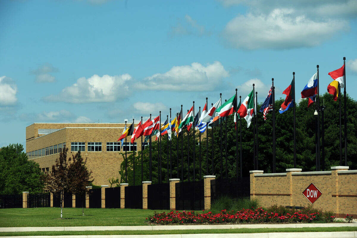 This Daily News file photo shows the Dow headquarters in Midland