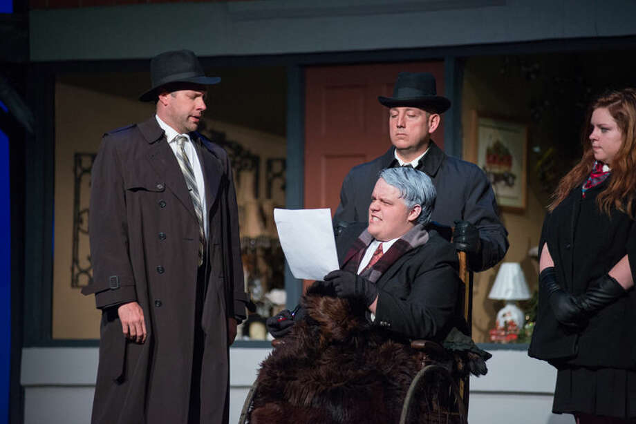 """In this Daily News 2014 file photo, performers rehearse for the Bullock Creek Community Theatre's performance of """"It's a Wonderful Life."""" The play is returning again this year, opening Thursday. Photo: Steven Simpkins   Daily News File Photo"""