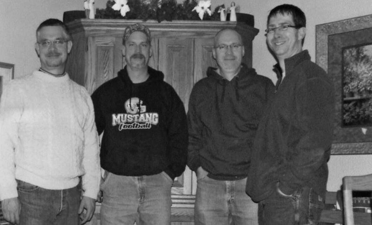 Here are the four great-grandsons of John and Walburga Neiner. Pictured from left are Mark, Blane, Kevin and Kent Boxey. Blane and Kent continue living on the family homestead while Kevin lives in Columbiaville and Mark lives in Allenton.