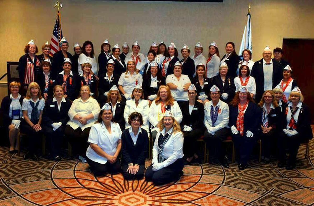 Local members of the Blue Star Mothers are among those in this picture from the convention.