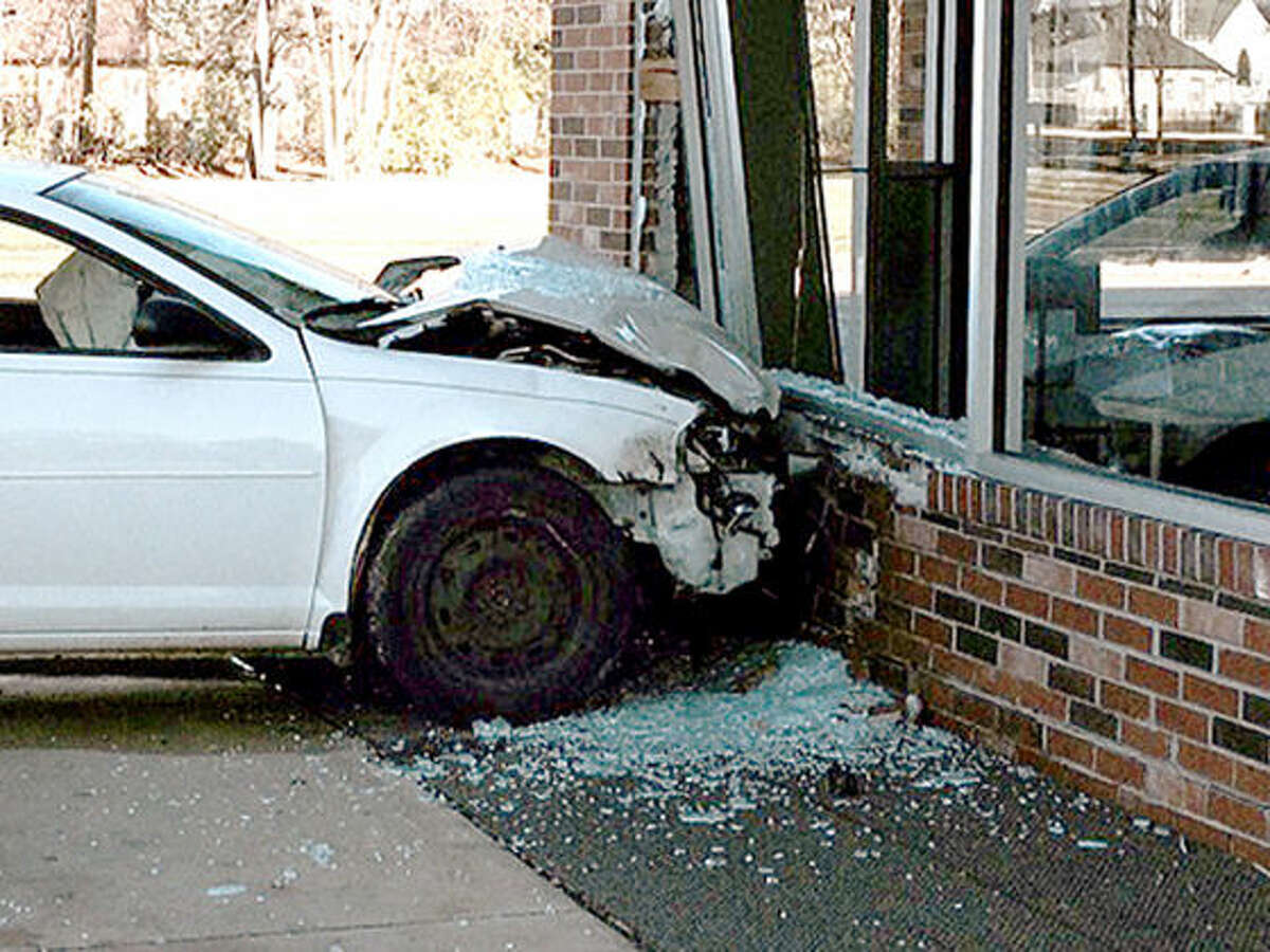 The car that hit Art Cleaners is shown.