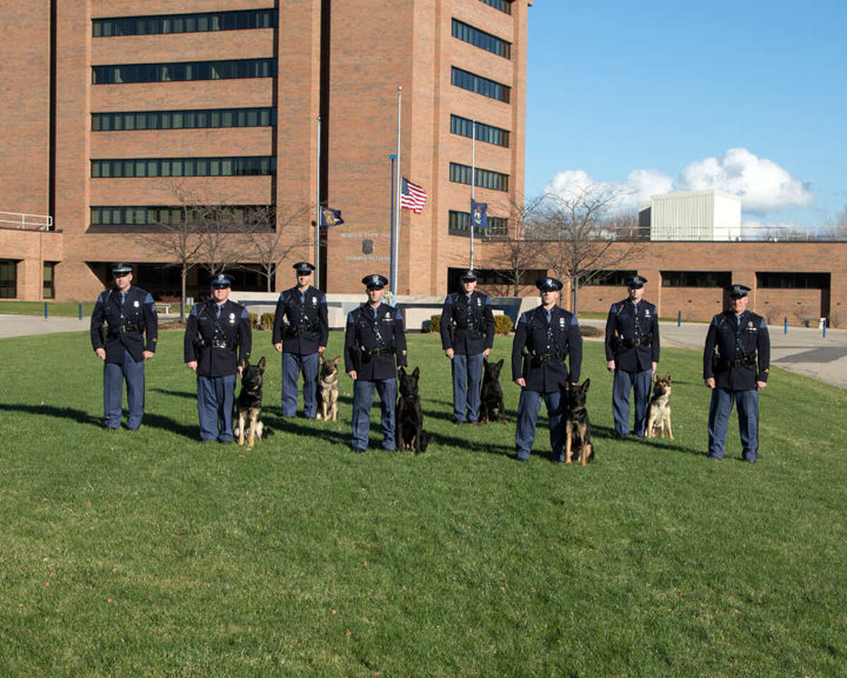 The new Michigan State Police canine teams