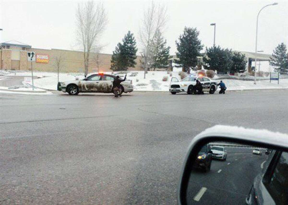 Authorities respond after reports of a shooting near a Planned Parenthood clinic Friday, Nov. 27, 2015, in Colorado Springs, Colo.