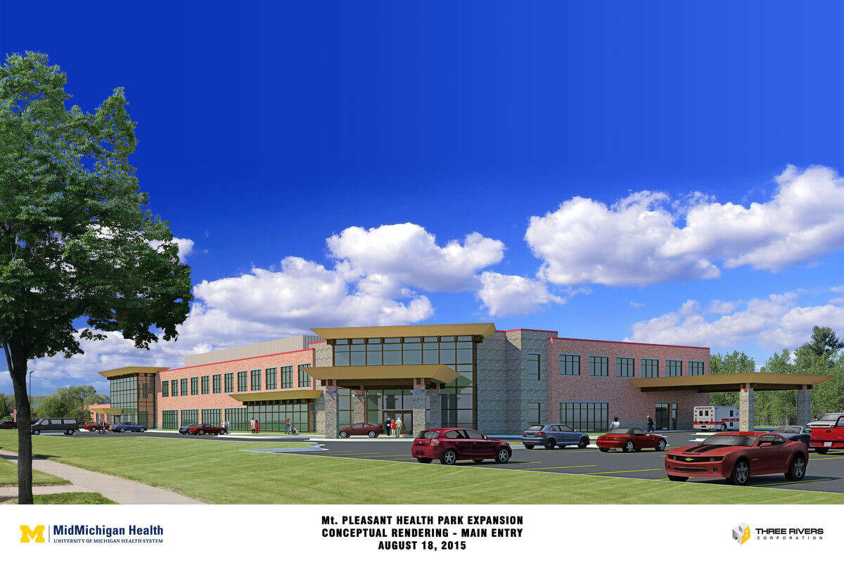 A rendering of the MidMichigan Health Mount Pleasant Health Park expansion.
